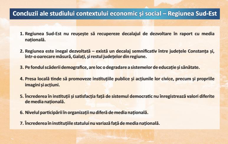 concluzii context Sud-Est