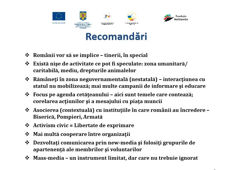 recomandari seminar Bucuresti