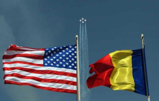 Steagurile SUA si Romania