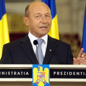 Traian Băsescu la pupitru