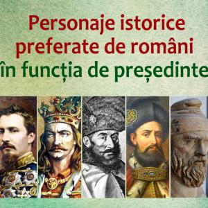 Personaje istoarice preferate de romani in functia de presedinte